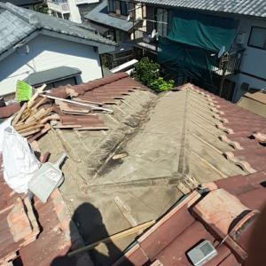 雨漏り修理最終日