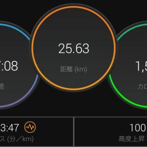 3'45~'48/kmで何km走れるかペース走