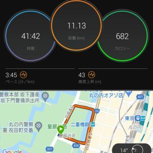 3'26/kmでクルーズインターバル走に挑戦