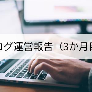 ブログ運営報告(3か月目)