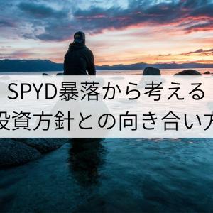 SPYD暴落から考える、投資方針との向き合い方