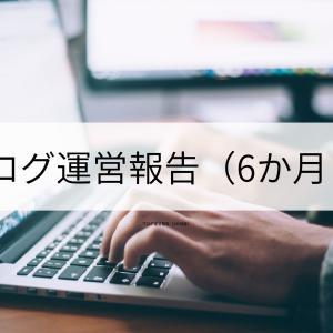 ブログ運営報告(6か月目)