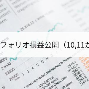 ポートフォリオ損益公開(10,11か月目)