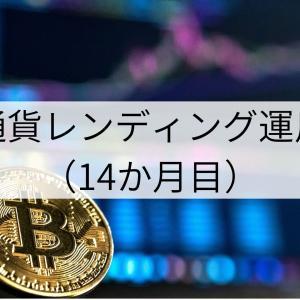仮想通貨レンディング運用報告(14か月目)