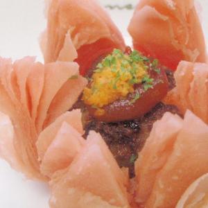 【春爛漫】花のミートボールパイ【サクサク食感】