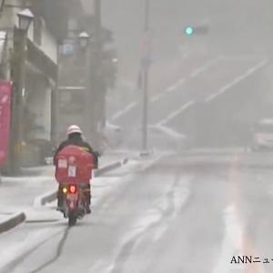 初雪の便り。九州揃い踏み…?