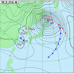台風並みの低気圧
