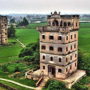 中国世界遺産「開平楼閣の村落」Village in Kaiping Pavilion, a World Heritage Site in China