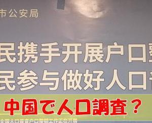 中国の国勢調査(人口調査について)