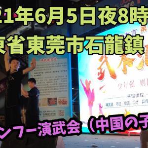 中国東莞石龍鎮での太極拳プロモーション(子供用)