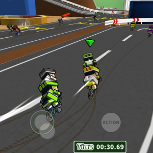 デフォルメされた自転車でライバルと競争!「机で自転車レース」をレビュー!テスト