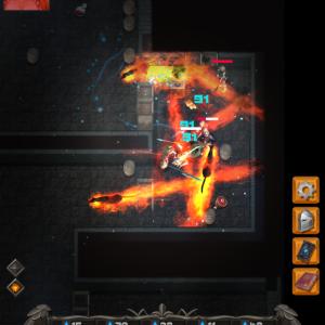 ひっぱりアクションなダンジョン脱出アプリ「Darkest Rogue」をレビュー!