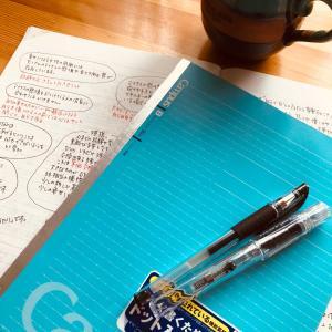 好きな言葉をノートに記して