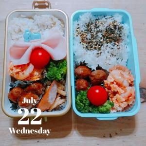 7/22 今日のJC娘&パート弁当