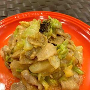 豚肉とキャベツの味噌マヨ炒め