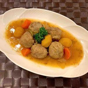 栗の甘露煮と肉団子の煮物