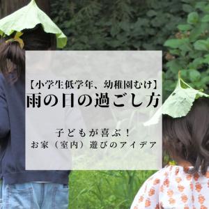 【雨の日の過ごし方】子どもが喜ぶお家(室内)遊び!~小学生低学年&幼稚園むけ~