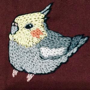 刺繍作品三点(ポコルテポコチル、リサ・ラーソン)