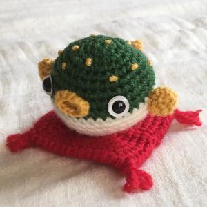 フグを編みました