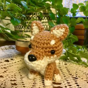 柴犬を編みました