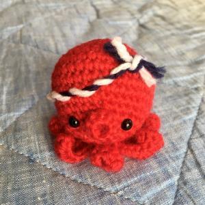 タコさんを編みました。