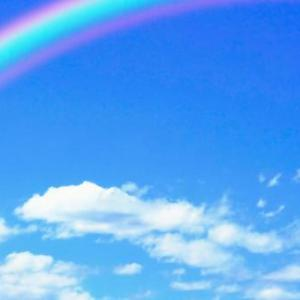 虹のはじまりを追いかける。