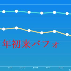 【年初来パフォ】1月20日の週の年初来パフォ