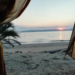 能古島キャンプ場で初の島ソロキャンプ!~絶景の朝日に感動! 後編~