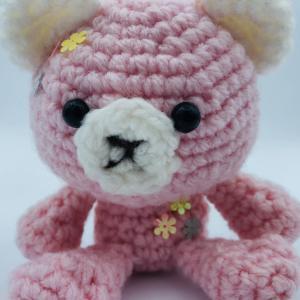 ★あみなちゃん作品紹介★ピンクのくまさんをおかあしゃんの誕生日プレゼントにしたよ!