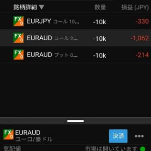 FXバニラオプション追撃売り!!
