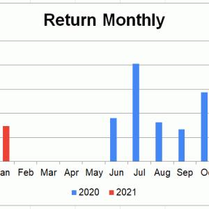 米国株疑似高配当戦略 21年1月末までの報告