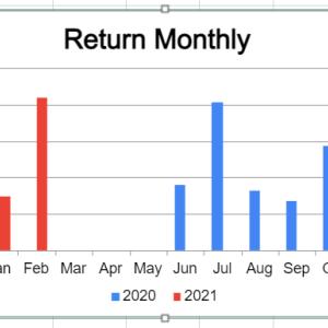 米国株疑似高配当戦略 株高で安全運転中だったが・・・【月間運用報告21年2月】