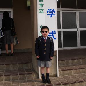 次男君の小学校入学式