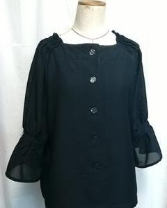 黒の絽の着物からブラウス
