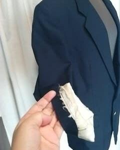 紳士物のジャケットの裏地取り換え