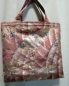 ピンクの帯でトートバッグ二つ!