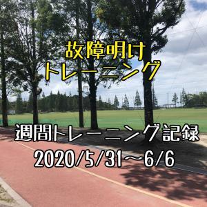 【週報】故障明けトレーニング(2020/5/31~6/6)