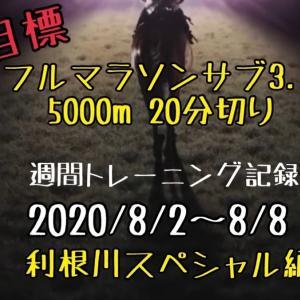 【週報】利根川スペシャル、、、大撃沈(2020/8/2~8/8)