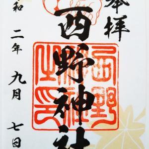 西野神社の秋仕様の御朱印(札幌市西区)