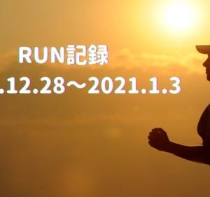 週間RUN記録 2020.12.28~2021.1.3