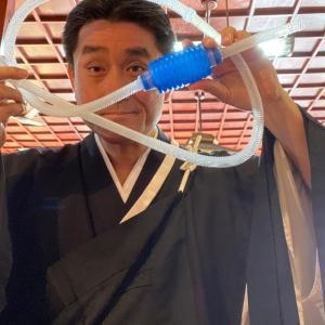 花瓶から水を吸い出す道具を紹介 ブラジルのお寺関係者必見! Sifão com Sugador Manual HJS-300 Sun Sun