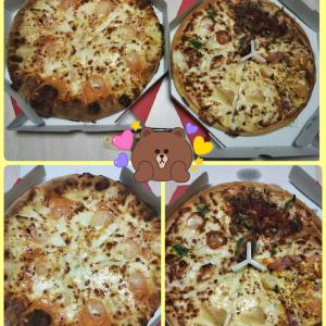 夫の希望でピザ