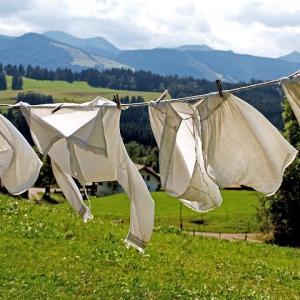 洗濯物は取り込まない