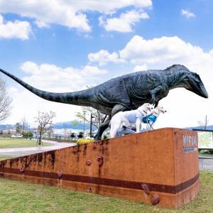熊本県 御船町  ★恐竜の里みふね      ☆恐竜とボルゾイってちょっと似てる