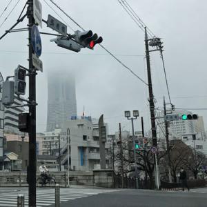 本日の売上は6,000円 雨でランドマークタワーもおぼろげ