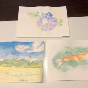水彩画を描いてみた