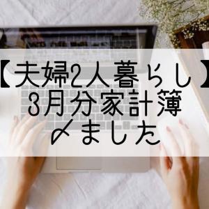 【夫婦2人暮らし】3月分家計簿〆ました!
