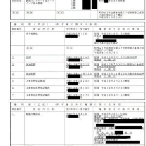 不動産登記簿の見方vol.1