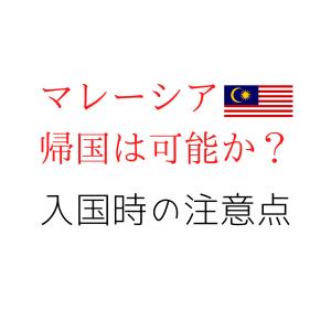 ビザ保有者がマレーシア再入国は可能か?