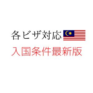 各ビザ対応。マレーシア入国条件。就労ビザ、MM2H。